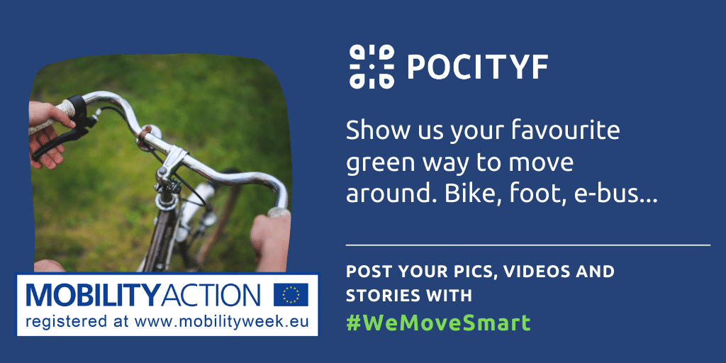 #WeMoveSmart call to action: show us your favourite green way to move around.